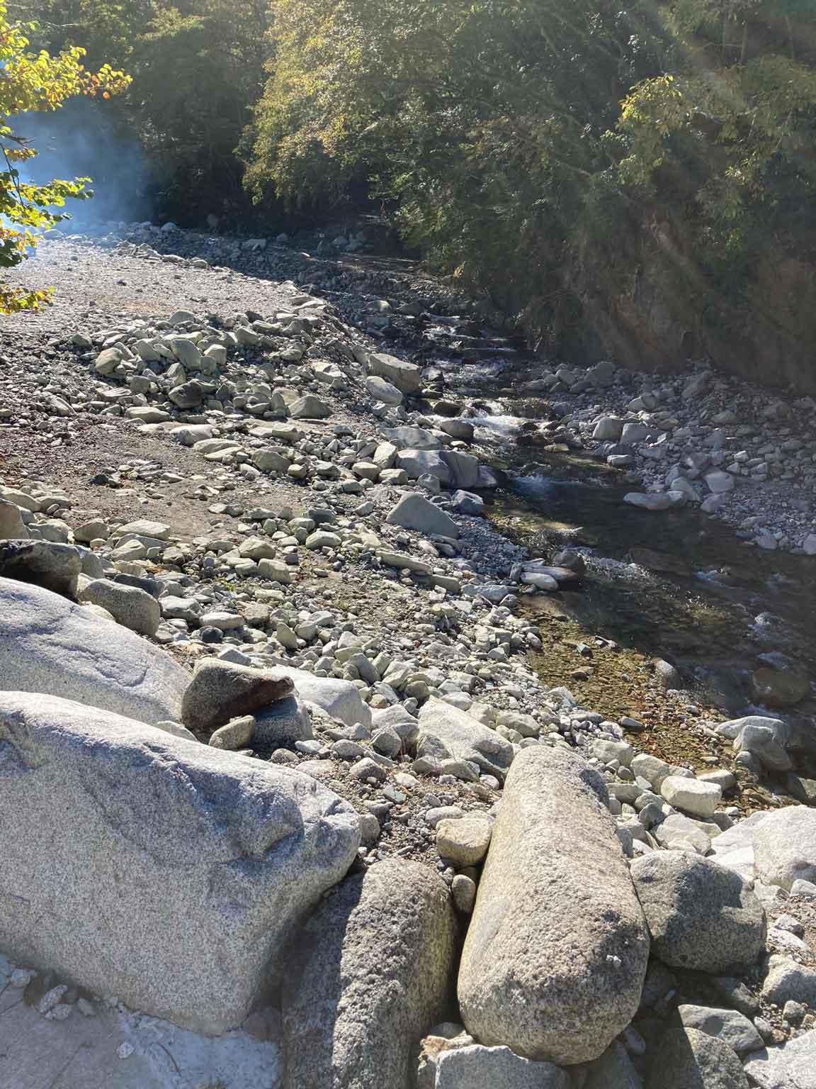 ウェルキャンプ西丹沢キャンプ場の川遊び