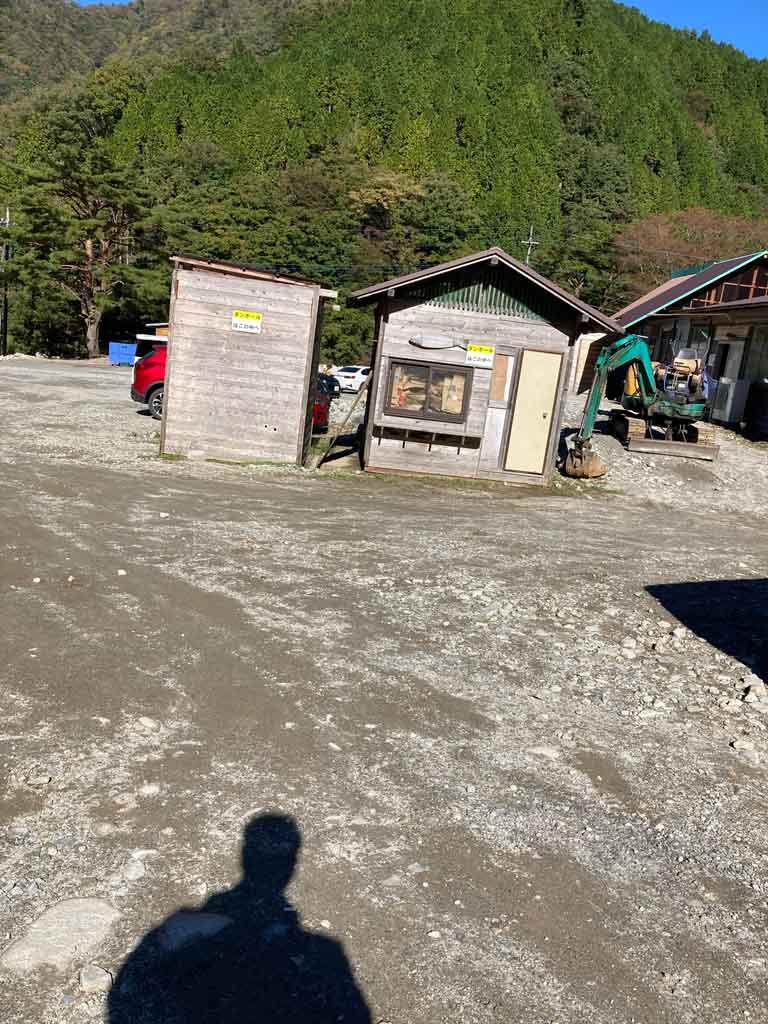 ウェルキャンプ西丹沢キャンプ場のゴミ捨て場