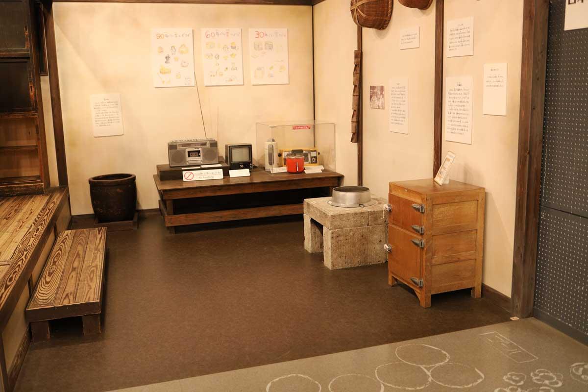 昔の家の展示
