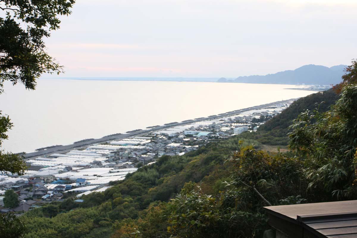 ロープウェイから眺める駿河湾