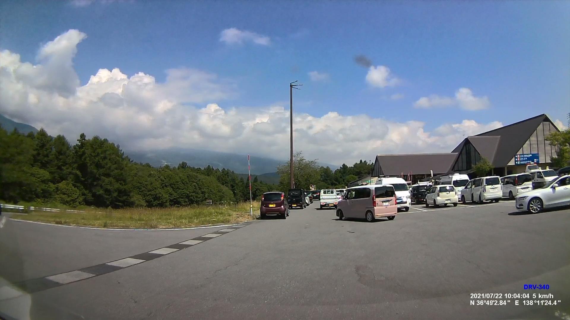 道の駅しなのの駐車場